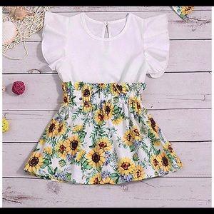 Baby girl sunflower dress
